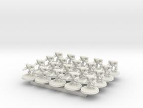 Gecko Battle Bot in White Natural Versatile Plastic