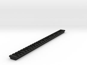 27 Slots Picatinny Rail (Pre-Drilled) in Black Natural Versatile Plastic