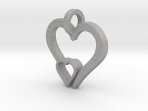 Heart Pendant in Aluminum: Small
