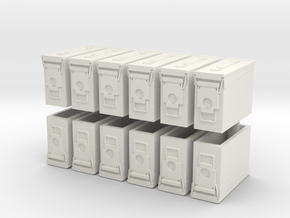 1:18 Scale Ammo Can (M19A1 .30 cal) in White Natural Versatile Plastic