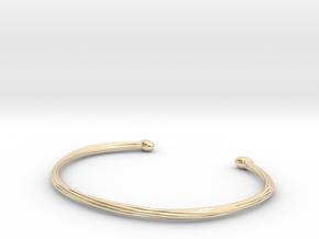 Rope cuff bracelet in 14k Gold Plated Brass