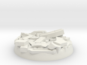 40mm Base - Stone Ruin in White Natural Versatile Plastic
