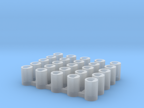 25x X-Wing Small Ship Socket in Smooth Fine Detail Plastic