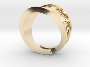 Emboss Ring - 2 in 14K Yellow Gold