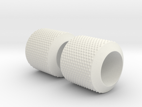 1:25 Show Rod Front Tires Pair in White Natural Versatile Plastic