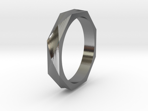 Facet 15.70mm in Polished Silver