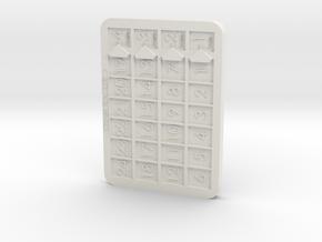Keyforge Chain Tracker in White Natural Versatile Plastic
