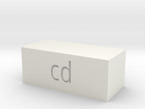 Quad 33 CD Button in White Natural Versatile Plastic