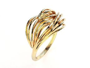 Fruit Doble Ring in 18k Gold Plated Brass: 6.5 / 52.75