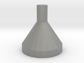 Minifig Headgear Funnel in Gray PA12