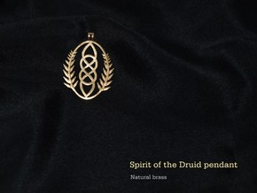 Spirit of the Druid Pendant in Natural Brass