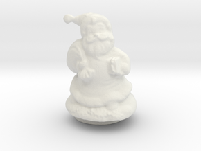 Santa ornament  in White Natural Versatile Plastic