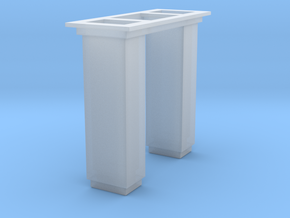 1/64 5000 Grain leg trunking short section in Smooth Fine Detail Plastic