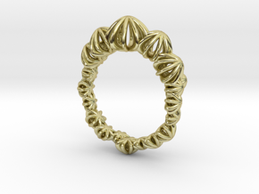Sea Urchin Small Ring in 18k Gold Plated Brass: 7 / 54