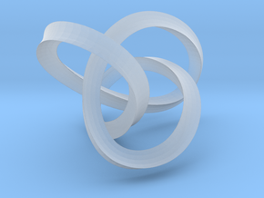 3-Sided Figure 8 Knot Pendant in Smooth Fine Detail Plastic
