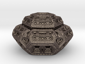 Hexagonal mandelwhatever  in Polished Bronzed-Silver Steel