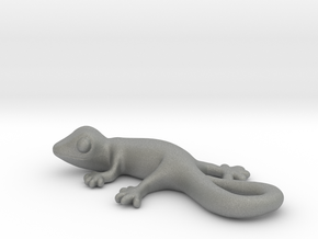 Cute Gecko Keychain in Gray PA12