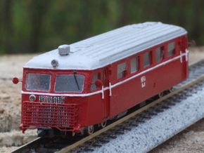 Scandia Rail bus (N scale) in Smooth Fine Detail Plastic