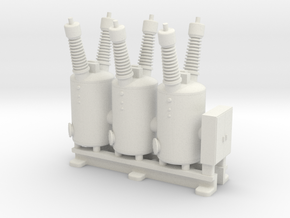 Electrical Substation Circuit Breaker in White Natural Versatile Plastic: 1:160 - N