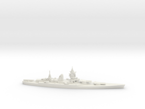 French Dunkerque-Class Battleship in White Natural Versatile Plastic