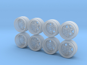 RF Six 9-0 Hot Wheels Rims in Smoothest Fine Detail Plastic