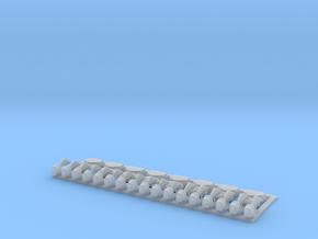 8 Alarmglocken und 17 Signalhörner in 1:35 in Smooth Fine Detail Plastic
