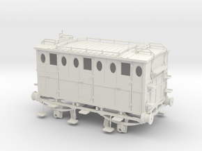 L&BR 2nd class carriage 1837 G1 in White Natural Versatile Plastic