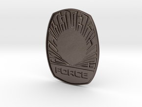 1115 Force badge in Polished Bronzed-Silver Steel