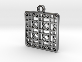 Tessellation Pendant (005) in Fine Detail Polished Silver
