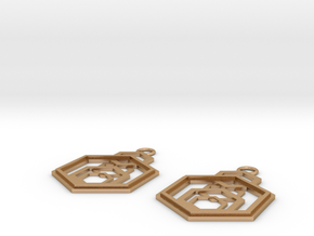 Geometrical earrings no.9 in Natural Bronze: Small