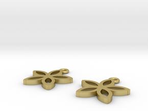 Star Fruit Earrings in Natural Brass