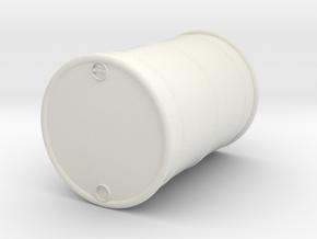 55 gal Oil Drum O scale in White Natural Versatile Plastic