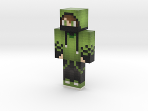 Creeper_Hoodie | Minecraft toy in Natural Full Color Sandstone