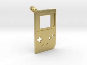 Gameboy Classic Styled Pendant in Natural Brass