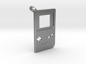 Gameboy Classic Styled Pendant in Natural Silver