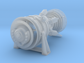 15MW Gas Turbine in Smooth Fine Detail Plastic: 1:48 - O