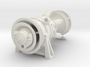 15MW Gas Turbine in White Natural Versatile Plastic: 1:87 - HO