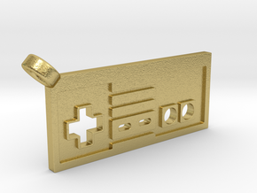 NES Controller Styled Pendant in Natural Brass
