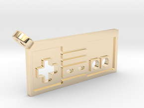 NES Controller Styled Pendant in 14k Gold Plated Brass