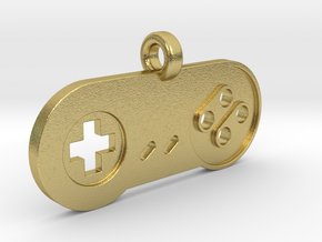 SNES Controller Styled Pendant in Natural Brass