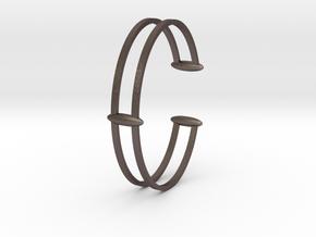 Bracelet 18 in Polished Bronzed-Silver Steel