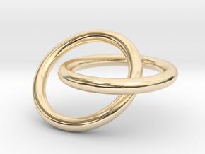 Interlocking Rings Pendant in 14K Yellow Gold