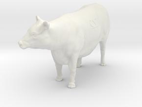 1/32 Yearling Heifer 05 in White Premium Versatile Plastic