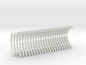 Heat Sink Fins (full) for PP Starkiller in White Premium Versatile Plastic