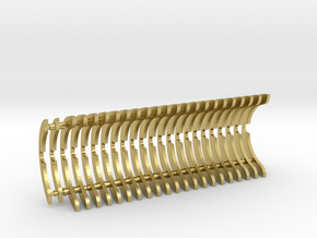 Heat Sink Fins (full) for PP Starkiller in Natural Brass