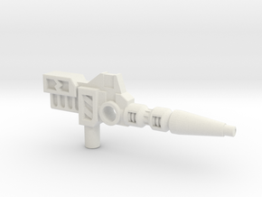 Carnivac's Anti-Thermal Cannon, 5mm in White Natural Versatile Plastic: Medium