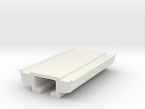 Pedestrain Overhead Bridge 1:50 in White Natural Versatile Plastic