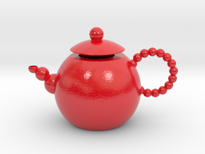 Decorative Teapot in Glossy Full Color Sandstone