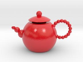 Decorative Teapot in Glossy Full Color Sandstone