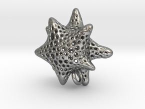 foram star with O ring in Natural Silver